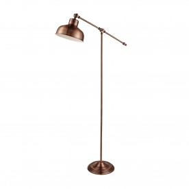 MACBETH INDUSTRIAL ADJUSTABLE FLOOR LAMP ANTIQUE COPPER