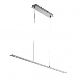 LED BAR LIGHTS - PENDANT BAR SATIN SILVER - STRAIGHT