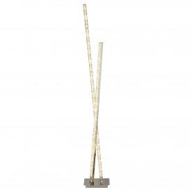 CLOVER 2LT LED COLUMN FLOOR LAMP CLEAR CRYSTAL TRIM CHROME