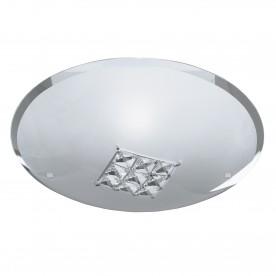 FLUSH - 1LT CEILING FLUSH (DIA 32cm) SANDED GLASS CLEAR CRYSTAL