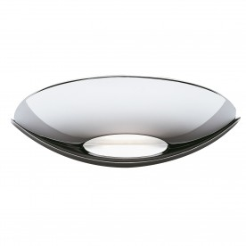 WALL BRACKET LED UPLIGHT CHROME FROSTED GLASS