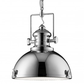 INDUSTRIAL PENDANT 1LT CHROME CLEAR LENS