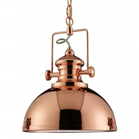 INDUSTRIAL PENDANT 1LT COPPER CLEAR LENS