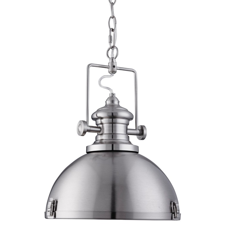 INDUSTRIAL PENDANT 1LT SATIN SILVER CLEAR LENS