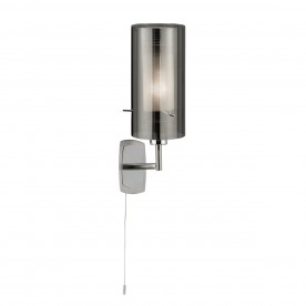 DUO 2 - 1LT WALL BRACKET WITH SMOKEY OUTER/FROSTED INNER GLASS SHADES
