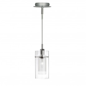 DUO I - SS DOUBLE GLASS PENDANT