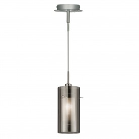 DUO 2 - 1LT PENDANT WITH SMOKEY OUTER/FROSTED INNER GLASS SHADES