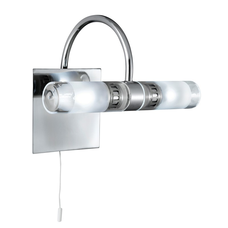 LIMA BATHROOM - IP44 (G9 LED) 2LT CLEAR/FROSTED GLASS CHROME