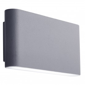 LED OUTDOOR WALL BRACKET GREY FROSTED DIFFUSER