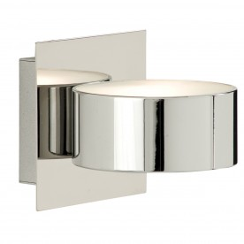 WALL LIGHT 1LT CHROME/GLASS CIRCULAR  G9