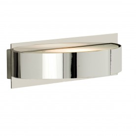 WALL LIGHT 1LT CHROME/GLASS HALF CIRCLE