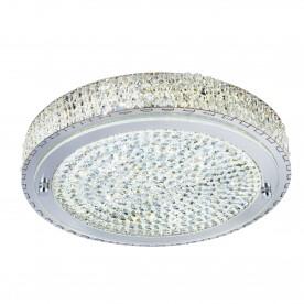 FLUSH  LED CEILING FLUSH (Dia 40cm) CHROME CLEAR CRYSTAL CENTRE DECO
