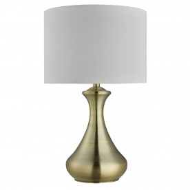 TOUCH LAMP - ANTIQUE BRASS  CREAM SHADE