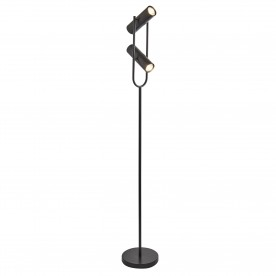 TELESCOPE 2LT CYLINDER SHADE FLOOR LAMP MATT BLACK