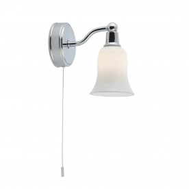 BELVUE BATHROOM - IP44 (G9 LED) 1LT WHITE SHADE WALL LIGHT