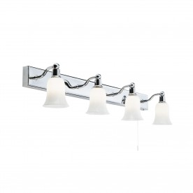 BELVUE BATHROOM - IP44 (G9 LED) 4LT WHT SHADE WALL LIGHT BAR
