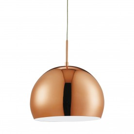 INDUSTRIAL PENDANTS -  1LT 40CM COPPER BALL PENDANT