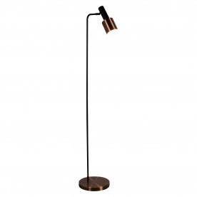 DENMARK 1LT FLOOR LAMP BLACK ANTIQUE COPPER
