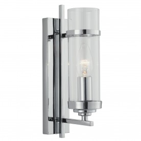 MILO CC 1LT WB-CL GLASS CYLINDER SHADE