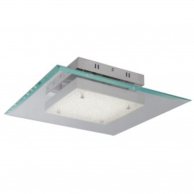LEXI SQUARE LED GLASS PENDANT 16W CHROME
