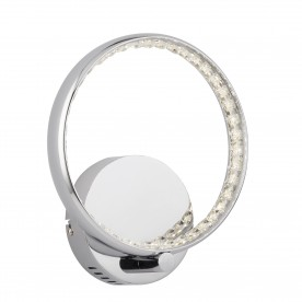RINGS LED WALL BRACKET CHROME CLEAR CRYSTAL