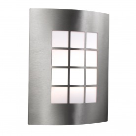 OUTDOOR & PORCH WALL LIGHT - STAINLESS STEEL 1LT