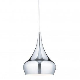 PENDANT - METAL & GLASS 1LT CHROME YURT