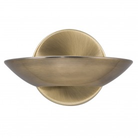 WALL BRACKET LED UPLIGHT ANTIQUE BRASS FROSTED GLASS