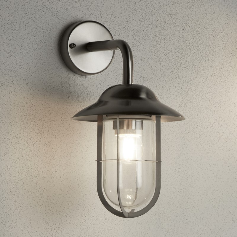 TORONTO  - 1LT OUTDOOR PENDANT SATIN SILVER CLEAR GLASS