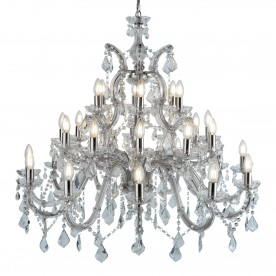 MARIE THERESE - 30LT CHANDELIER CHROME CLEAR CRYSTAL
