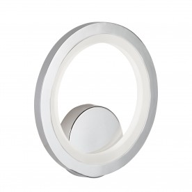 WALL BRACKET RING LED CHROME FROSTED ACRYLIC