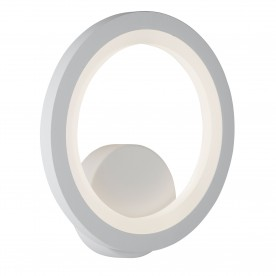WALL BRACKET RING LED  WHITE FROSTED ACRYLIC