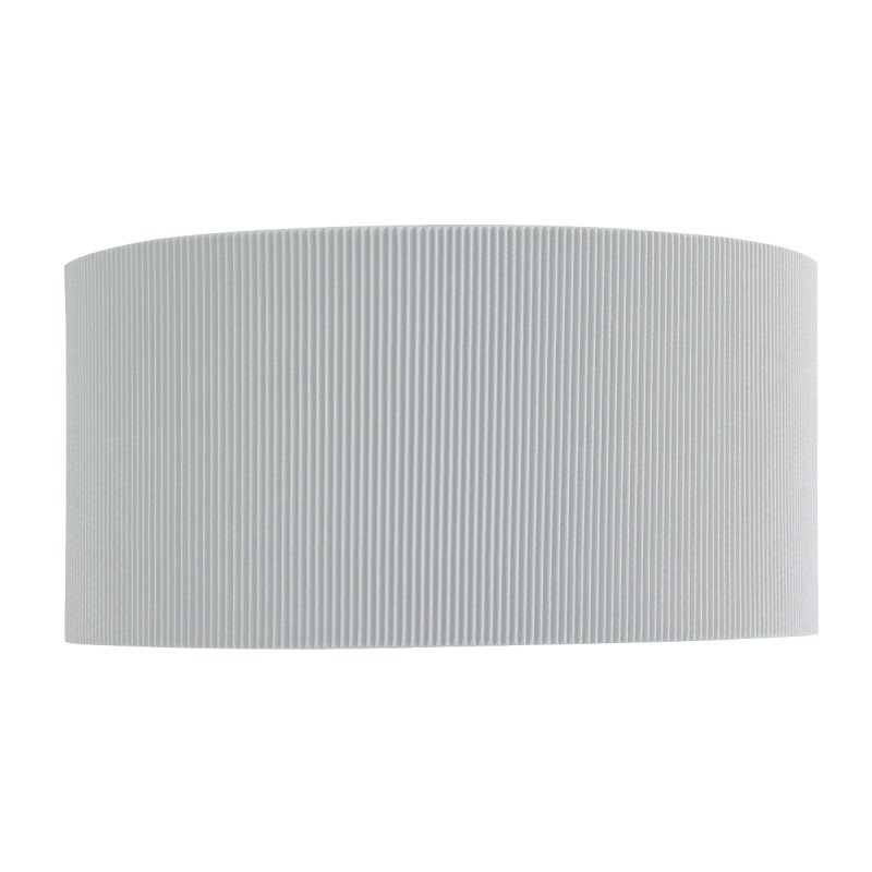 DRUM PLEAT - 2LT WALL BRACKET SILVER PLEATED SHADE FROSTED GLASS DIFFUSER