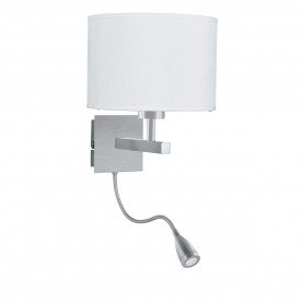 WALL LIGHT - DUAL ARM SS- LED FLEXI ARM