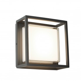 OHIO OUTDOOR LED SQUARE DARK GREY OPAL WHITE/CLEAR DIFFUSER WB/FLUSH