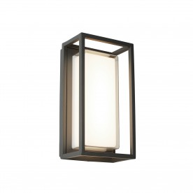 OHIO OUTDOOR LED RECTANGLE DARK GREY OPAL WHITE/CLEAR DIFFUSER WB/FLUSH