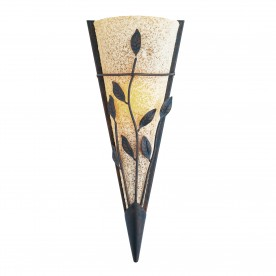 WALL LIGHT - BROWN LEAF WALL WASHER SCAVO GLASS