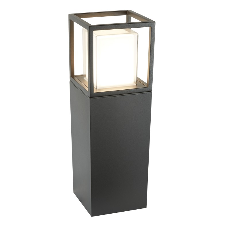 OHIO OUTDOOR LED POST (45cm Height) DARK GREY OPAL WHITE/CLEAR DIFFUSER