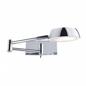 WALL LIGHT ADJUSTABLE CHROME GX5.3 4W PALM BULB