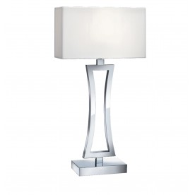 CUSION TABLE LAMP (SINGLE) - CURVED RECTANGLE CHROME