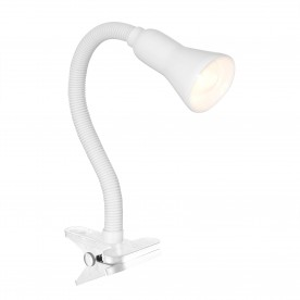 DESK PARTNERS - WHITE FLEX CLIP TASK LAMP