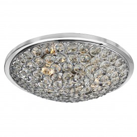 CHANTILLY 3LT CHROME FLUSH/CLEAR CRYSTAL BUTTONS