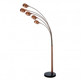 GIRAFFE 5LT FLOOR LAMP SAND COPPER BLACK MARBLE BASE