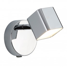 QUAD 1LT LED SQUARE HEAD SPOT WALL BRACKET CHROME