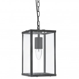 CAMDEN  1LT RECTANGLE BLACK/CLEAR GLASS