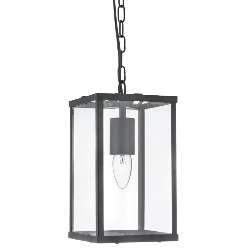 VOYAGER  1LT RECTANGLE BLACK/CLEAR GLASS