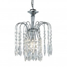WATERFALL - 1LT CEILING CHROME CLEAR CRYSTAL