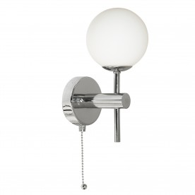 GLOBAL - 1LT (G9 LED) IP44 WALL BRACKET CHROME OPAL GLASS