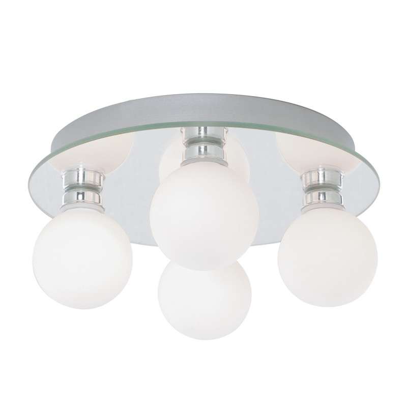 GLOBAL - IP44 (G9 LED) 4LT CEILING OPAL GLASS CHROME