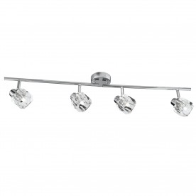 LED TRITON -  4LT SPOTLIGHT SPLIT-BAR CHROME CLEAR GLASS